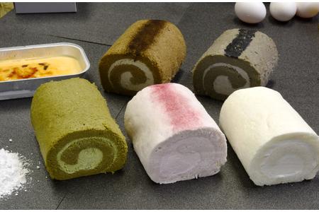 『米粉ロールケーキ5種+クレマカタラーナ』米粉スイーツセット (H053105)