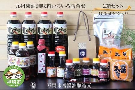 九州醤油調味料いろいろ詰合せ(100mlBOX入)2箱セット(K-1) (H016114)