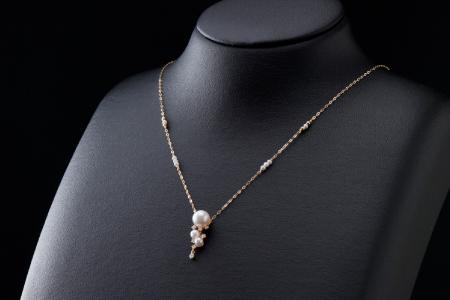 【華やか可愛い♪アコヤ真珠】ペンダントネックレス P-132