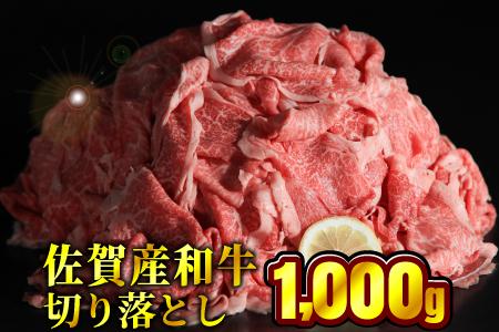 佐賀産和牛切り落とし 1000g(500g×2パック)【定期便12回】H-216