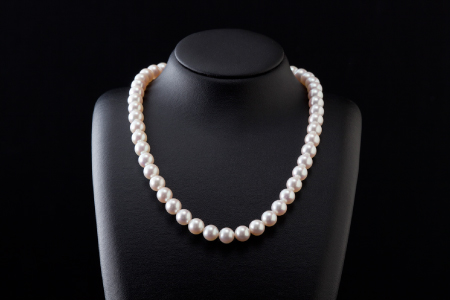 五つ星級の真珠!オーロラ艶!ラウンド8.0-8.5mmアコヤ真珠ネックレス・ピアスorイヤリングセット S-98