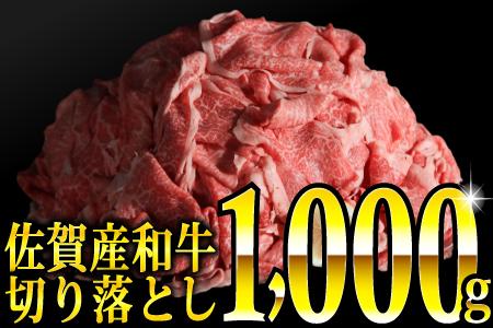 1000g 佐賀産和牛切り落とし(500g×2パック)【2021年5月より発送開始】B-694