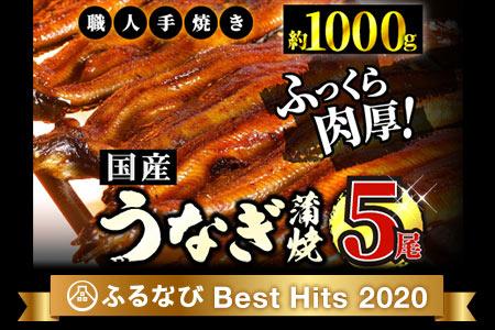 うなぎ蒲焼専門店「柳屋」国産うなぎ蒲焼 (約200g×5尾) D-427
