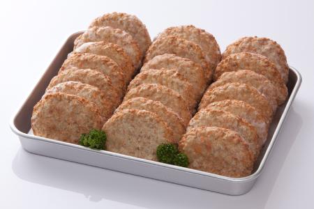 レンジで簡単!ふもと赤鶏と根菜のふんわりとうふハンバーグ 21個入 2100g(300g×7P)B-595