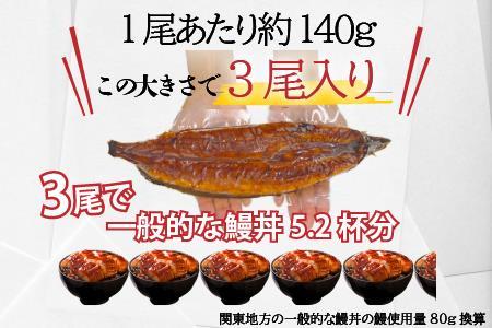 大幸園の国産うなぎ蒲焼 約140g×3尾 B-744