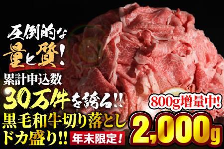 黒毛和牛「切り落とし」 ドカ盛り1500g 寄付金額:10000円