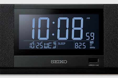 G25 SEIKO マルチサウンドクロック(黒)SS501K