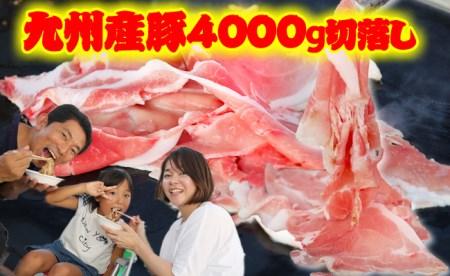 B4000 豪快特大盛り!九州産豚4000g切落し【期間限定】