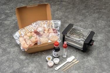 FG001_【みつせ鶏】宅焼鳥12本 ミールキットと焼台セット