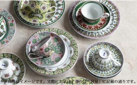A550-14  源右衛門窯 染錦ミナイ手絵変り 碗皿