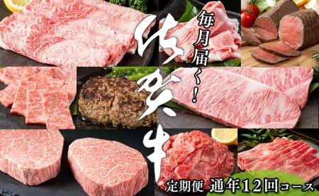 N200-5【毎月お届け!月に1度はお肉の日☆】佐賀牛 定期便 12回コース(2019)