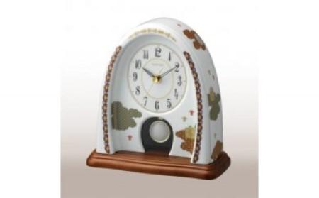 A170-4 香蘭社 雲散らし クオーツ置時計