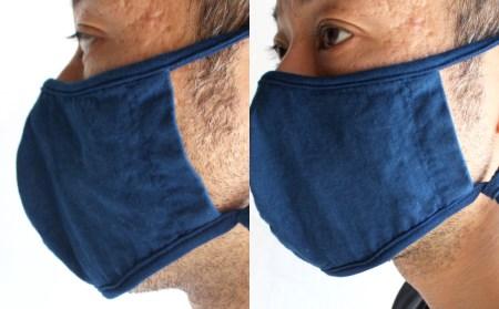 0583.藍染め特岡晒マスク
