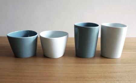 TA20 【2人分の食器セット】 ホワイト&グレイ/ペトラとトロワ6ピースセット【白山陶器】