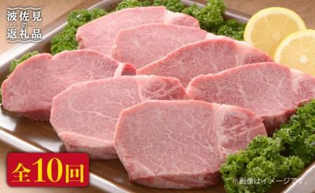 FB16 【全10回定期便】長崎県産黒毛和牛ヒレステーキ180g×12枚