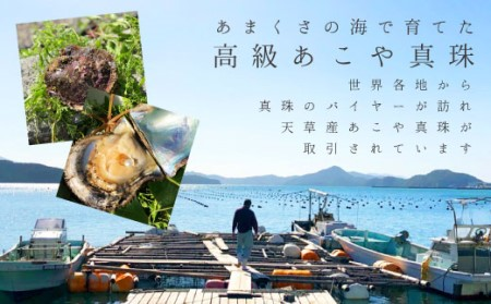 S085-073_天草産 K18 3連 パールピアス あこや真珠 7-8mm
