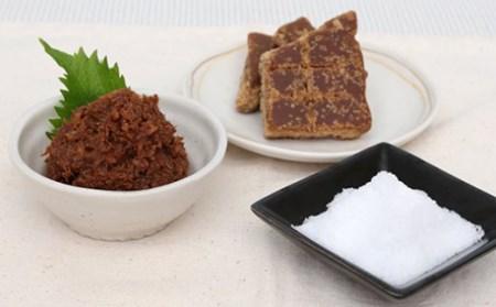 かつお味噌 おっげんしゃーと塩と砂糖(黒糖)
