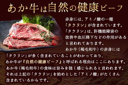 あか牛(褐毛和牛) サーロイン ステーキ 750g 《11月末-12月下旬頃より順次出荷》 くまモンパッケージ焼き肉のタレつき 期間限定 数量限定 緊急支援 生産者応援キャンペーン 牛肉 冷凍