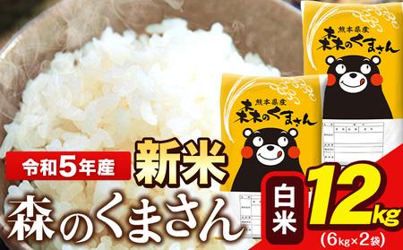 令和3年産 新米 森のくまさん13kg 6.5kg×2袋 白米 熊本県産 単一原料米 森くま 長洲町《出荷時期をお選びください》