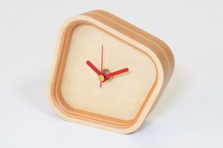 ペーパーウッド時計 オレンジ(rotation)