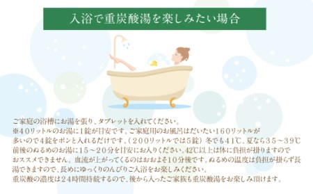 【炭酸泉入浴剤(お試し用)】薬用長湯ホットタブclassic 45錠入 675g