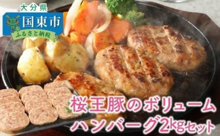 桜王豚のボリュームハンバーグ2kgセット