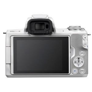 キヤノンミラーレスカメラ(EOS Kiss M・EF-M15-45 IS STM レンズキット ・ホワイト)