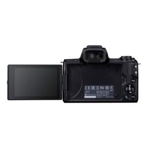 キヤノンミラーレスカメラ(EOS Kiss M・ダブルズームキット・ブラック)