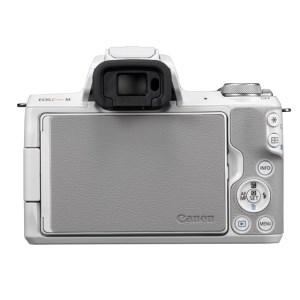 キヤノンミラーレスカメラ(EOS Kiss M・ダブルズームキット・ホワイト)