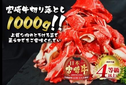 E20-191 安楽畜産宮崎牛切り落とし1000g