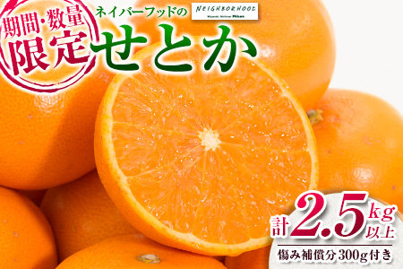 B139-20 ≪期間・数量限定≫柑橘の大トロ!!せとか(約2.5kg)16~25玉