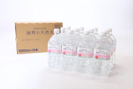 【定期便:年12回】細野の天然水1.020ml