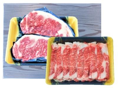 宮崎県日向市産 黒毛和牛サーロインステーキ・リブローススライスセット 計1kg [35-06]