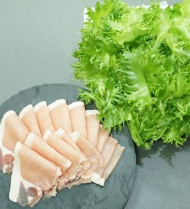 10-25 スイ-ツレタスと日向市産特上豚の豚しゃぶセット