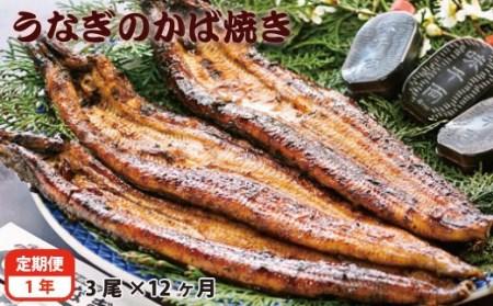 【一年定期便】藤うなぎ かば焼き3尾<30-5>