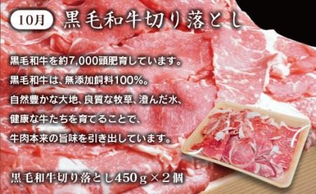 4.5-4「数量・期間限定」有田牧畜「牛肉」×西都産「新米」4ヶ月定期便