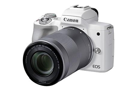 <ミラーレスカメラEOS Kiss M2 (ホワイト)・ダブルズームキット>3か月以内に順次出荷【c750_ca】