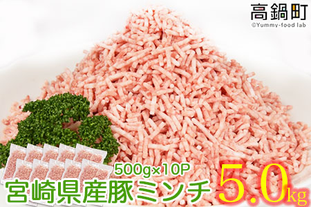c553_hn <宮崎県産豚ミンチ5.0kg>2019年11月末迄に順次出荷