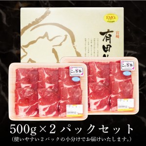 e028_ar <有田牧場直送 この華牛切落し たっぷり1kg>