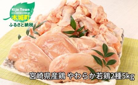 e170_sn <宮崎県産鶏 やわらか若鶏2種5kg>2020年1月末迄に順次出荷