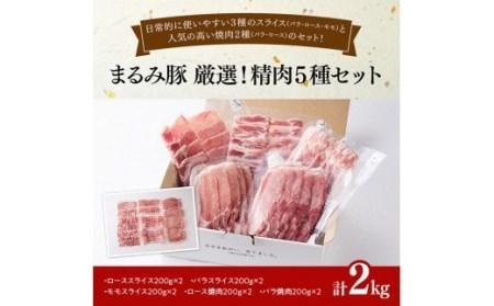 『まるみ豚』厳選! 精肉5種セット 【肉 豚肉 ブランドポーク スライス 焼肉】