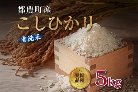 ZC4 都農町産『新米こしひかり』計5kg《有洗米》