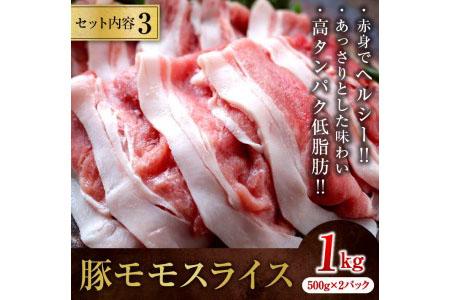 A418 豚しゃぶしゃぶ3種盛り合計2.2kg(都農町加工品)