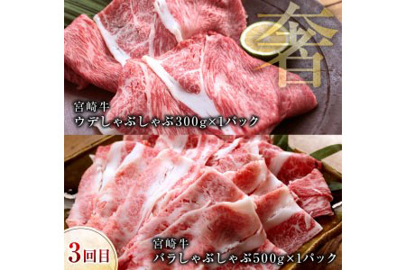 D26 《3か月定期便》宮崎牛満腹セット(合計2.4kg)都農町加工品