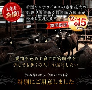 BC20-NO ≪緊急支援品≫宮崎牛ヒレステーキ480g(120g×4枚)