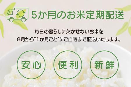CD16 定期便『新米・無洗米』5kg×5か月間(宮崎県産)