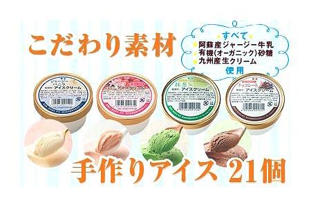 733 こだわり素材の手作りアイスクリーム4種21個