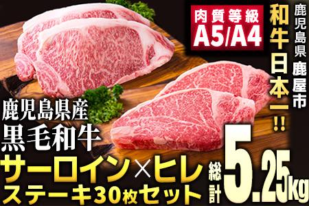 681 日本一!【ステーキ30枚】鹿児島県産A4・A5ランク黒毛和牛セット