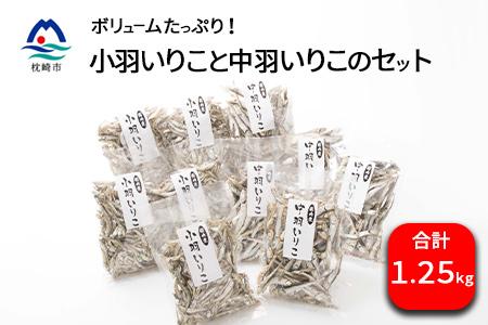 小羽いりこ・中羽いりこセット【計1.25kg】 煮干し いりこ 乾物 AA-276
