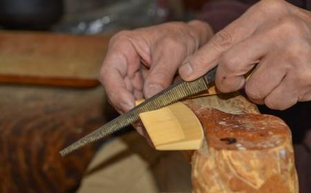 【鹿児島県指定伝統的工芸品】薩摩つげ櫛・手作り布ケースセット※約9cm